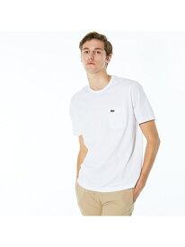LACOSTE ベーシッククルーネックポケットTシャツ(半袖) ラコステ カットソー Tシャツ ホワイト ブラック ネイビー【送料無料】