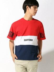 【SALE/54%OFF】CONVERSE (M)コンバース別注切替Tシャツ ウィゴー カットソー Tシャツ ピンク ホワイト イエロー【RBA_E】
