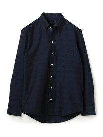 MEN'S BIGI EASYCAREビッグ千鳥クリスタルシンサーシャツ【ウォッシャブル加工】 メンズ ビギ シャツ/ブラウス 長袖シャツ ネイビー グレー【送料無料】
