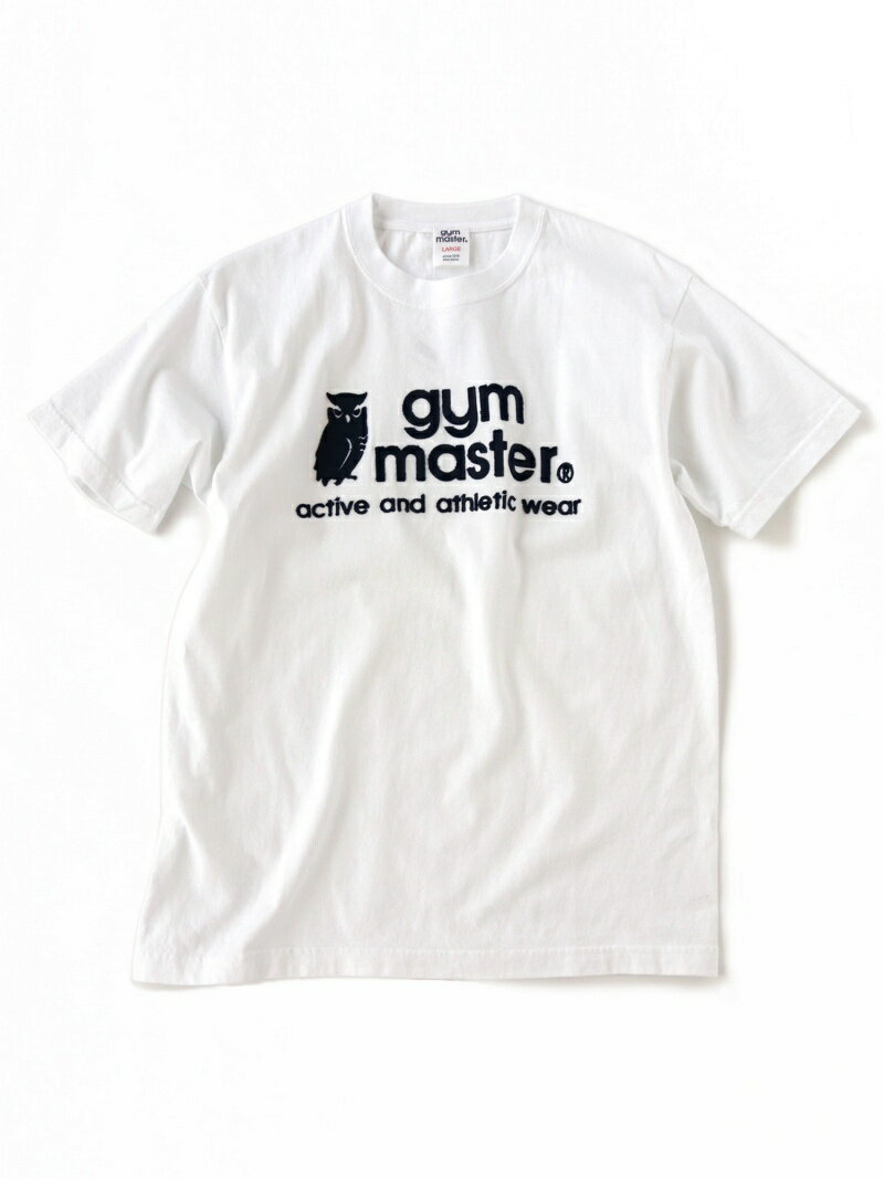 gym master gym master/(U)フクロウロゴTee-ホワイトxネイビー ジムマスター カットソー【送料無料】