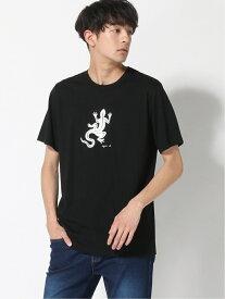 agnes b. HOMME HOMME/(M)SF64 TS レザールTシャツ アニエスベー カットソー Tシャツ ブラック ホワイト【送料無料】
