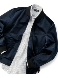 MEN'S BIGI コーデュロイ調スイングトップ ブルゾン メンズ ビギ コート/ジャケット ブルゾン ネイビー グリーン ブラック【送料無料】