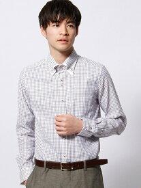 NICOLE CLUB FOR MEN ボタンダウンダブルカラードレスシャツ ニコル シャツ/ブラウス 長袖シャツ ブラウン ブルー【送料無料】