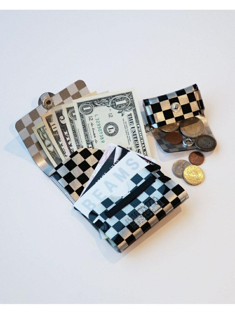BEAMS MEN SALLIES / Pocket Pal ミニマル メタリック パターン ウォレット ビームス メン 財布/小物