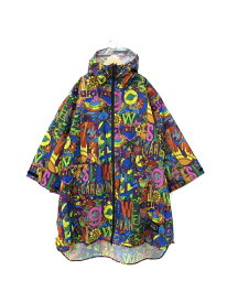 KIU KIU/(U)KIU×GSC SLEEVE RAIN PONCHO ゴースローキャラバン コート/ジャケット レインコート ネイビー ブラック【送料無料】