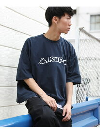 【SALE/30%OFF】Kappa Kappa/(U)【Kappa】×【Rocky Monroe】別注ブランドロゴTee ロッキーモンロー カットソー Tシャツ ネイビー ブラック ベージュ ホワイト【RBA_E】