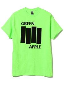【SALE/50%OFF】B:MING LIFE STORE by BEAMS GREEN APPLE BOOKS / FLAG Tシャツ BEAMS ビームス ビーミング ライフストア バイ ビームス カットソー Tシャツ グリーン ホワイト【RBA_E】