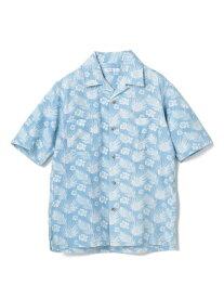 【SALE/50%OFF】RATTLE TRAP ハイビスカス柄オープンカラーシャツ メンズ ビギ シャツ/ブラウス 長袖シャツ ブルー【RBA_E】【送料無料】