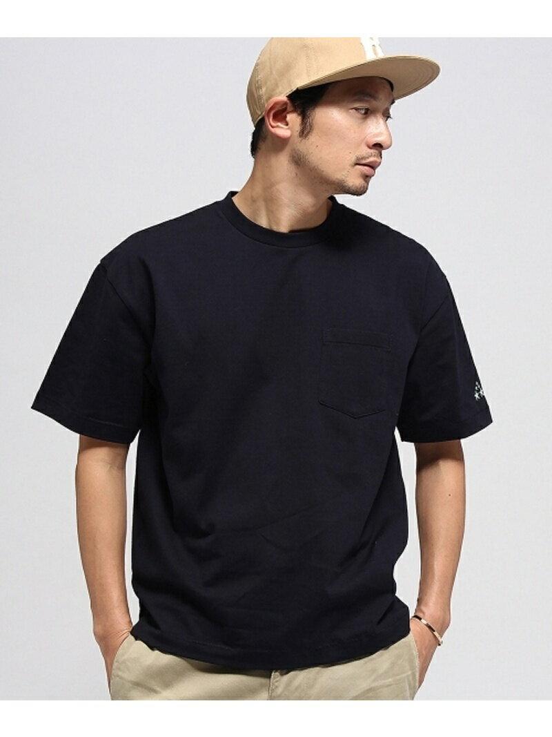 BASE CONTROL ◆袖スター刺繍 ビックシルエットTシャツ ベース ステーション カットソー