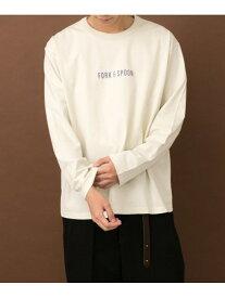 DOORS FORK&SPOONプリントロングスリーブTシャツ アーバンリサーチドアーズ カットソー Tシャツ ホワイト