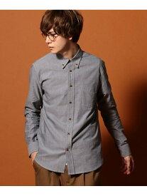 UNION STATION オックスフォードボタンダウンシャツ メンズ ビギ シャツ/ブラウス 長袖シャツ グレー ホワイト ブルー【送料無料】