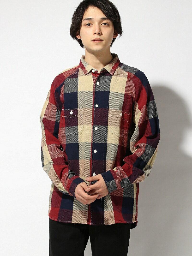 AOZORA AOZORA/(M)ヘビーチェックラグランワークシャツ ゴースローキャラバン シャツ/ブラウス【送料無料】