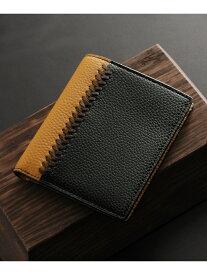 Mia Borsa [MiaBorsa]牛革レザーコンパクト二つ折り財布メンズ ミアボルサ 財布/小物 財布 ブラック【送料無料】