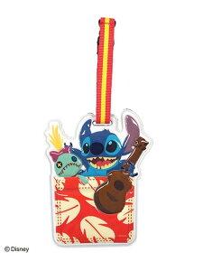 Disney Collection ラゲッジタグポケット/スティッチ アントレスクエア ファッショングッズ チャーム/キーチェーン ピンク