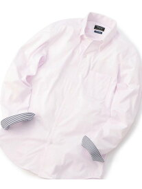 MEN'S BIGI ワンピースボタンダウン ジャージシャツ<イージーケア> メンズ ビギ シャツ/ブラウス 長袖シャツ ピンク【送料無料】