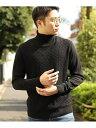 【SALE/50%OFF】MEN'S BIGI 【俳優大谷亮平さん着用】12Gへリンボーンタートルネックセーター メンズ ビギ ニット 長…
