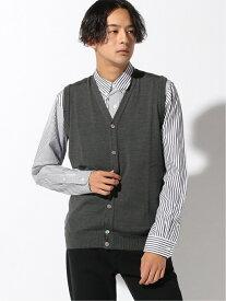 Munsingwear (M)ベスト マンシングウェア ニット ノースリーブニット/ベスト グレー ネイビー レッド【送料無料】