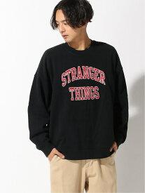BEAMS MEN LEVI'S(R) × Stranger Things / STRANGER THINGS CREWNECK ビームス メン カットソー スウェット ブラック【送料無料】