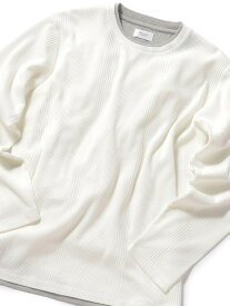 MEN'S BIGI ワッフルストライプカットソー メンズ ビギ カットソー Tシャツ ホワイト カーキ ブルー ブラック【送料無料】