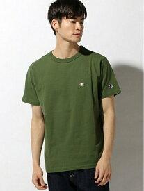 SPENDY'S Store 〈Champion〉ワンポイントTシャツ 【大きいサイズ】3L、4L、5L / →※別品番で レギュラーサイズ S、M、L、XLも有  【9色展開!】 スペンディーズストア カットソー Tシャツ イエ