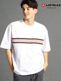 【SALE/70%OFF】vital MONSIEUR NICOLE 【WEB別注】AIRWALKコラボラインTシャツ ニコル カットソー Tシャツ ホワイト ベージュ【RBA_E】