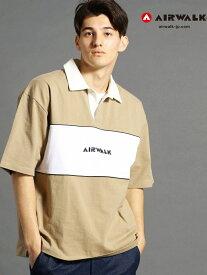 【SALE/70%OFF】【WEB別注】AIRWALKコラボ切り替えポロシャツ ニコル カットソー【RBA_S】【RBA_E】