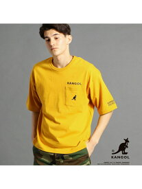 vital MONSIEUR NICOLE 【WEB別注】KANGOLコラボビッグTシャツ ニコル カットソー Tシャツ イエロー ホワイト ネイビー