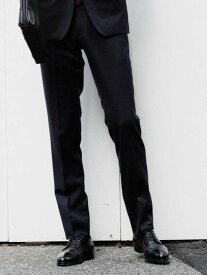 UNITED ARROWS green label relaxing [レダ]REDAサージ無地スリムノープリーツスラックス ユナイテッドアローズ グリーンレーベルリラクシング ビジネス/フォーマル スーツ ネイビー ブラック グレ【送料無料】