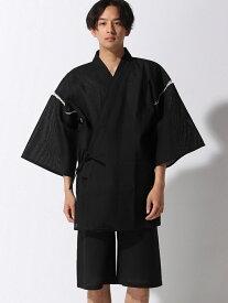 ALASKO シジラ甚平 アラスコ ビジネス/フォーマル 着物/浴衣 ブルー ネイビー ブラック グレー ホワイト