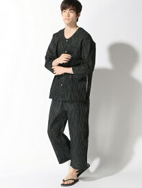 新主己 シジラパジャマ(衿無し) アラスコ ビジネス/フォーマル 着物/浴衣 ブラック グレー ネイビー