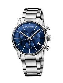 CALVIN KLEIN WATCHES+JEWELRY カルバンクライン 腕時計 City(シティ) クロノグラフ シルバー×ブルー カルバンクラインウォッチアンドジュエリー ファッショングッズ 腕時計 ブルー【送料無料】