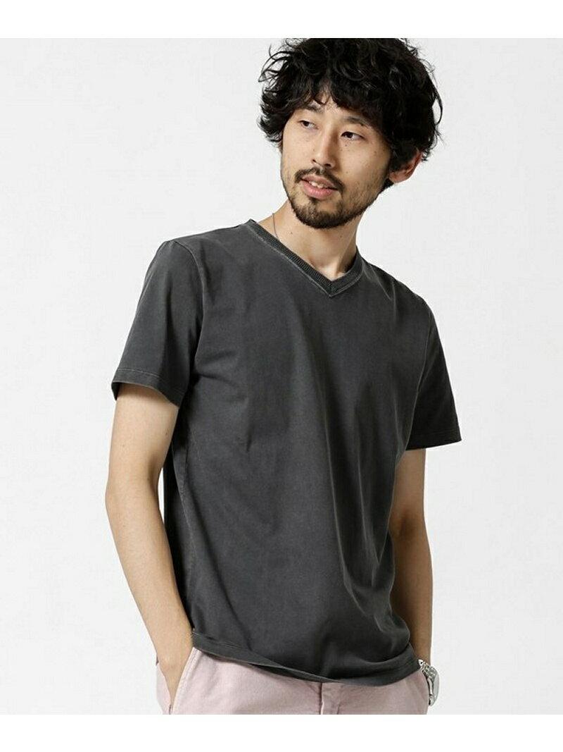 【SALE/30%OFF】nano・universe ピグメントバイオ加工VネックTシャツ ナノユニバース カットソー【RBA_S】【RBA_E】