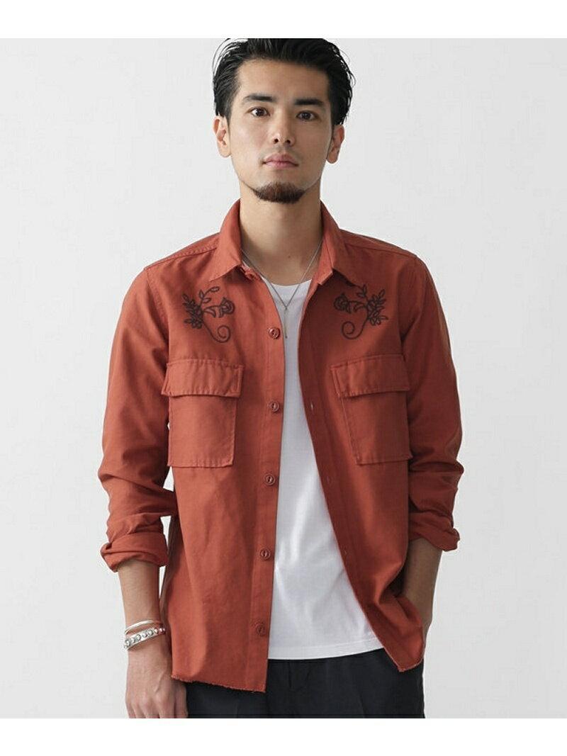 【SALE/60%OFF】//刺繍製品染めシャツ ナノユニバース シャツ/ブラウス【RBA_S】【RBA_E】【送料無料】