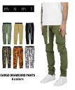 mnml カーゴ カーゴパンツ ミニマル CARGO DRAWCORD PANTS 18ML-AW301P メンズ カーキ オリーブ ブラック 迷彩 カモ オレンジ パープル XS S M L XL 送料無料