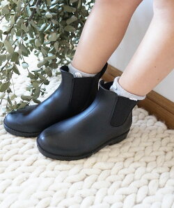 シューズ キッズ サイドゴアレインブーツ レインシューズ 長靴 靴 DONOBAN SELECT|雨靴 男の子 女の子 子供 ショートブーツ レイングッズ 雨具 雪 梅雨 黒 ブラック レッド 赤 カーキ コンフォー