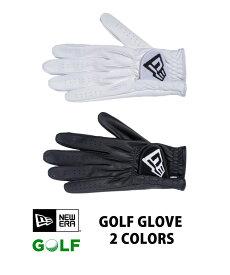 メール便送料無料 ニューエラ グローブ 【ゴルフ】 グローブ フラッグロゴ 2カラー 11901516 11901517 ホワイト ブラック メンズ スポーツ golf おしゃれ