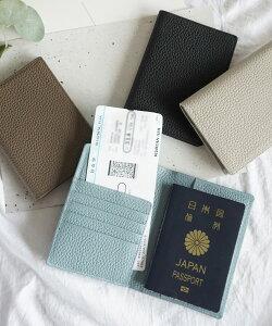メール便OK パスポートケース レディース リアルレザーパスポートケース カードケース チケットケース DONOBAN SELECT|本革 シンプル 使いやすい ブラック ライトグレー シルバー トープ ライ