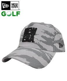 ニューエラ キャップ ◆ NEW ERA 【ゴルフ】 9FORTY A-Frame スクエア ニューエラ グレータイガーストライプカモ×ブラック 12108678 golf スポーツ 送料無料