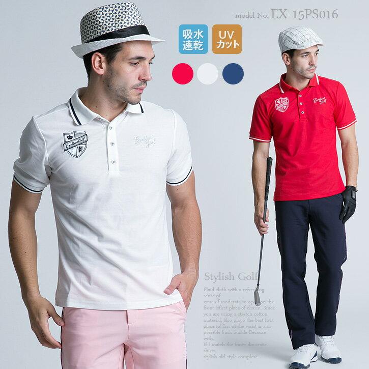 エクセランゴルフ Excellent Golf ゴルフウェア メンズ ゴルフウェア 春 スポーツウェア メンズ ファッション おしゃれ ポロシャツ ゴルフポロ 半袖
