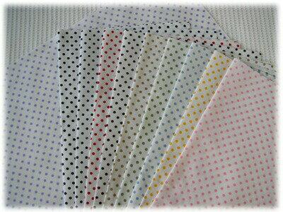 定番のブロード水玉模様白地×カラードット 【3mm】全10色