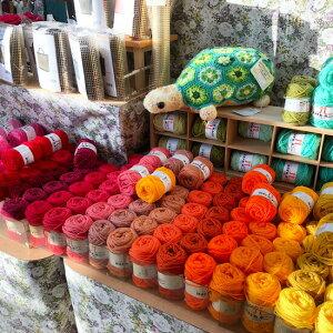 ハマナカボニー毛糸/洗濯しても縮まず、乾燥が早く、「ふくらみ」の復元性は抜群!しかも抗菌・防臭加工でとっても清潔な糸です/アクリル100%/エコたわし/ハマナカ手芸糸/No1