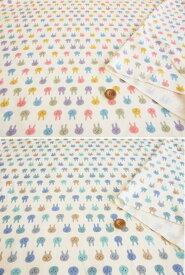 ab0d2ccac57ed5 綿ジャージスムースニットプリント生地cerise mignonneシリーズ≪うさぎフェイス柄≫かわいいうさぎさんのかおだけをプリント。人気の柄が ニット生地になりました。