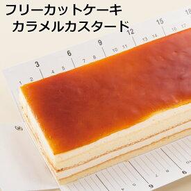フリーカットケーキカラメルカスタード 冷凍ケーキ 業務用 カラメル カスタード フリーカット