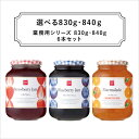 【送料無料】スドージャム 選べる業務用830g・840g 6本セット ※砂糖使用