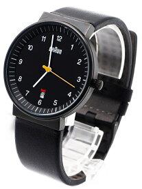 メンズウォッチ BRAUN BN0032BKBKG ブラウン 腕時計 WATCH 3針 DATE機能 黒 革ベルト  レザーベルト 仕事用 並行輸入商品