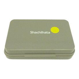 シャチハタ社製 スタンプ台黄色(イエロー) 中型サイズ油性顔料インク インク補充可能スタンプパッド ゴム印用普通紙 上質紙 PPC用紙 和紙 模造紙用