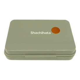シャチハタ社製 スタンプ台茶色(ブラウン) 大型サイズ油性顔料インク インク補充可能スタンプパッド ゴム印用普通紙 上質紙 PPC用紙 和紙 模造紙用