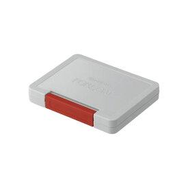 フォアコート スタンプ台 中型赤色(レッド)スタンプパッド インクパッド油性染料インキ インク補充可能光沢紙にも強いシャチハタ社製
