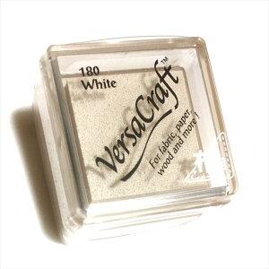 ツキネコ バーサクラフトSホワイトVKS-180布用 スタンプインクお名前はんこ スタンプ台 VersaCraft Tsukineko盤面:24×24mm本体:34×34×20mm