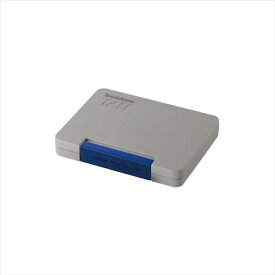 シヤチハタTAT (タート) 強着スタンプ台 〈多目的用〉中形 藍色 あいいろ ATGN-2-B事務用品 ゴム印